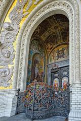 Gate of Naval Cathedral of Saint Nicholas in Kronstadt