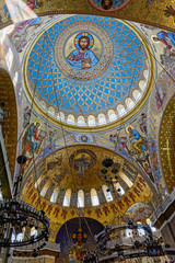 The painting on the dome of the Naval Cathedral of St Nicholas
