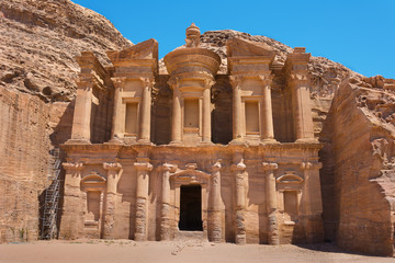 The al-Dayr tomb or monastery part of the Petra complex in Jorda