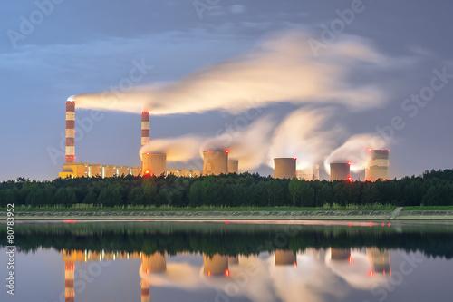 Leinwandbild Motiv Bełchatów , Polska , elektrownia