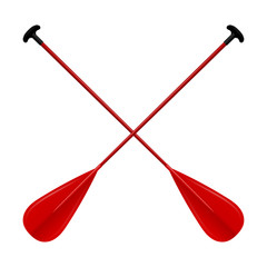 Paddles red isolated on white background. Vector illustration.
