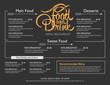 menu restaurant hipster style. - 80784906