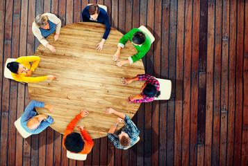 Diversity Team Planning Project Meeting Startegy Concept