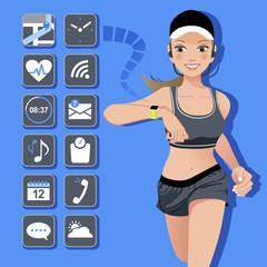 テクノロジー スマート ウォッチ コンセプトSmart watch concept