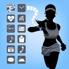 テクノロジー スマート ウォッチ コンセプト Smart device concept