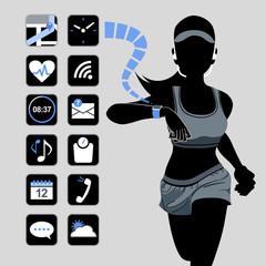 テクノロジー スマート デバイス コンセプト Smart watch concept