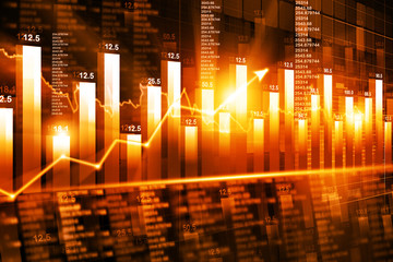 economical stock market graph and chart