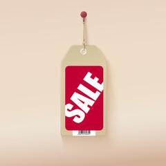 Sale tag.