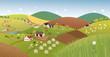 Spring farmer landscape - 80787391