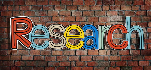 Research Word Isolated on Background Concept