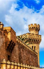 Der königliche Palast in Palma de Mallorca, Spanien