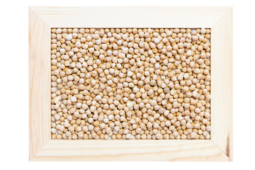 chickpeas in frame
