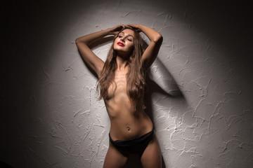 girl in black panties