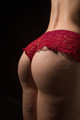 buttocks with cellulite