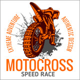Fototapety Motocross sport emblem