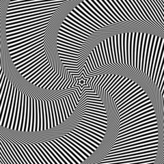Rotation movement. Abstract op art design.