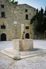 Baptistery fountain of fifth century in Rhodes