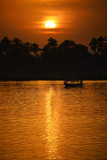Fototapeta Sonnenuntergang am Nil in Luxor - Ägypten
