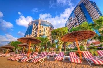 Beach in Abu Dhabi, the capital of United Arab Emirates