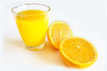 orange juice in the glass