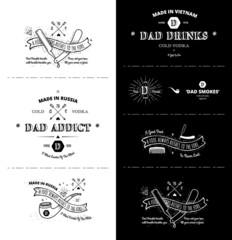 vector set - Trendy Retro Vintage Insignias - Badges