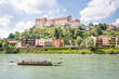 Castle of Burghausen with Salzach, Bavaria, Germany
