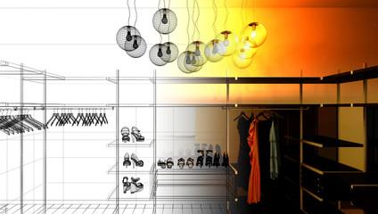 Guardaroba interior abitazione, moda