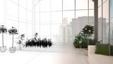 Appartamento, attico con serra, rendering 3d, interior - 80793302