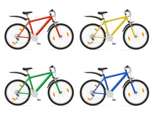 mountain bikes with gear shifting vector illustration