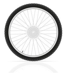 bicycle wheel vector illustration