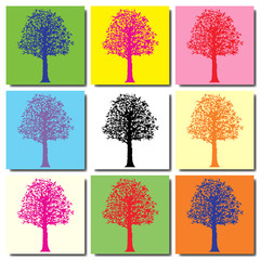 Arbre pop art