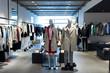 Leinwandbild Motiv fashion store interior and mannequins