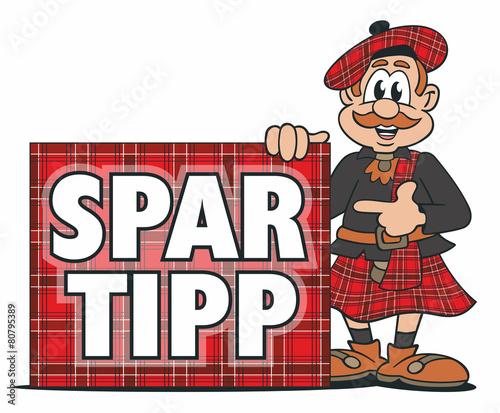 Leinwandbild Motiv Scottish Tip