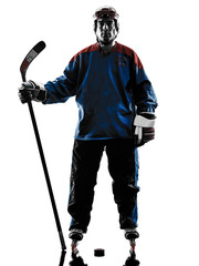 hockey man player silhouette