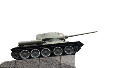 monument - a tank on a white background
