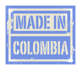 Abstract stamp or label with text Made in Colombia