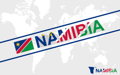 Namibia map flag and text illustration