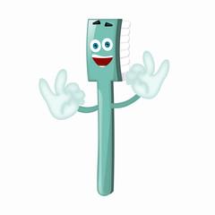 Funny toothbrush tooth brush dentist children cartoon