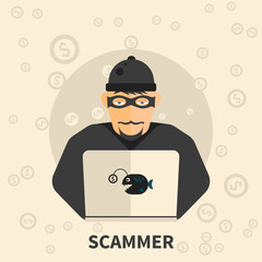 Scammer, hacker, internet theft