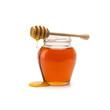 Leinwanddruck Bild - Pot of honey and stick