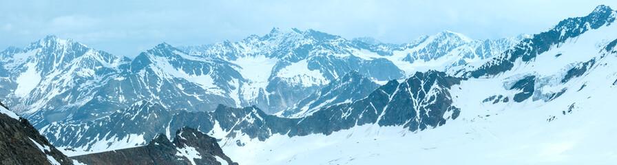 Alp mountain winter panorama (Austria)