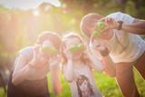 Fototapety family, apples, fun