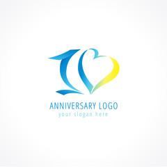 10 anniversary logo