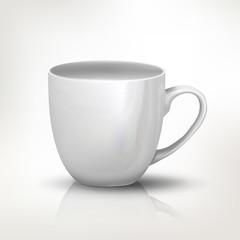 Clear tea cup illustration