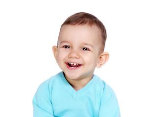 closeup portrait of a happy baby boy