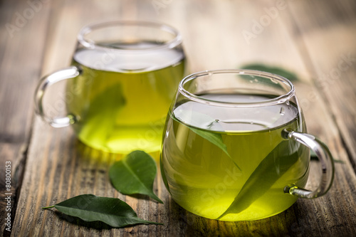 Tuinposter Koffie Green tea