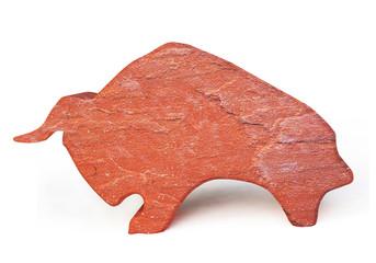 Stone Statuette of a Bull