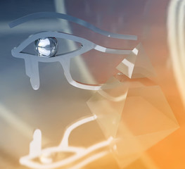 Eye of Horus and a Pyramid