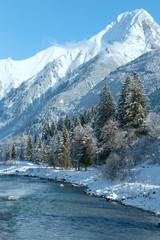 Winter mountain river (Austria, Tirol)