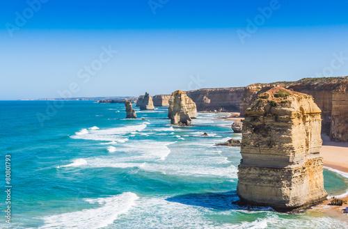 Poster Oceanië The twelve apostles on the great ocean road in Victoria Australi